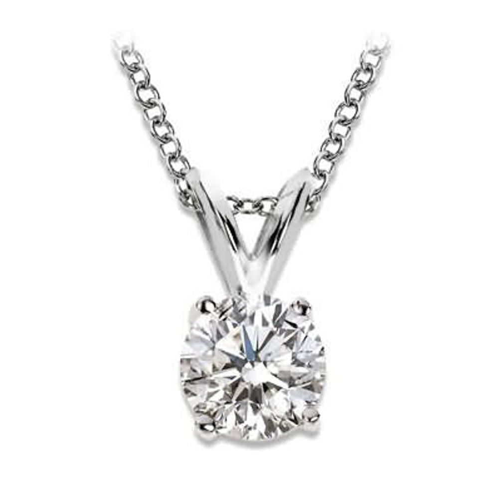 solitaire diamond pendant necklace white gold ebay. Black Bedroom Furniture Sets. Home Design Ideas