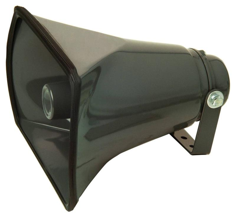 Grey-8-Ohm-25-W-Metal-Horn-Square-Horn-Speaker-Electrovision-P113
