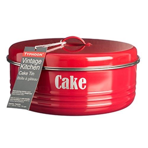 typhoon vintage kitchen round metal cake cupcake storage. Black Bedroom Furniture Sets. Home Design Ideas