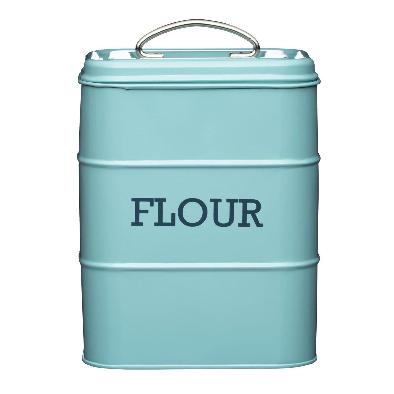 Living Nostalgia Flour Canister Kitchen Storage Jar Containers Pots Pale Blue Ebay
