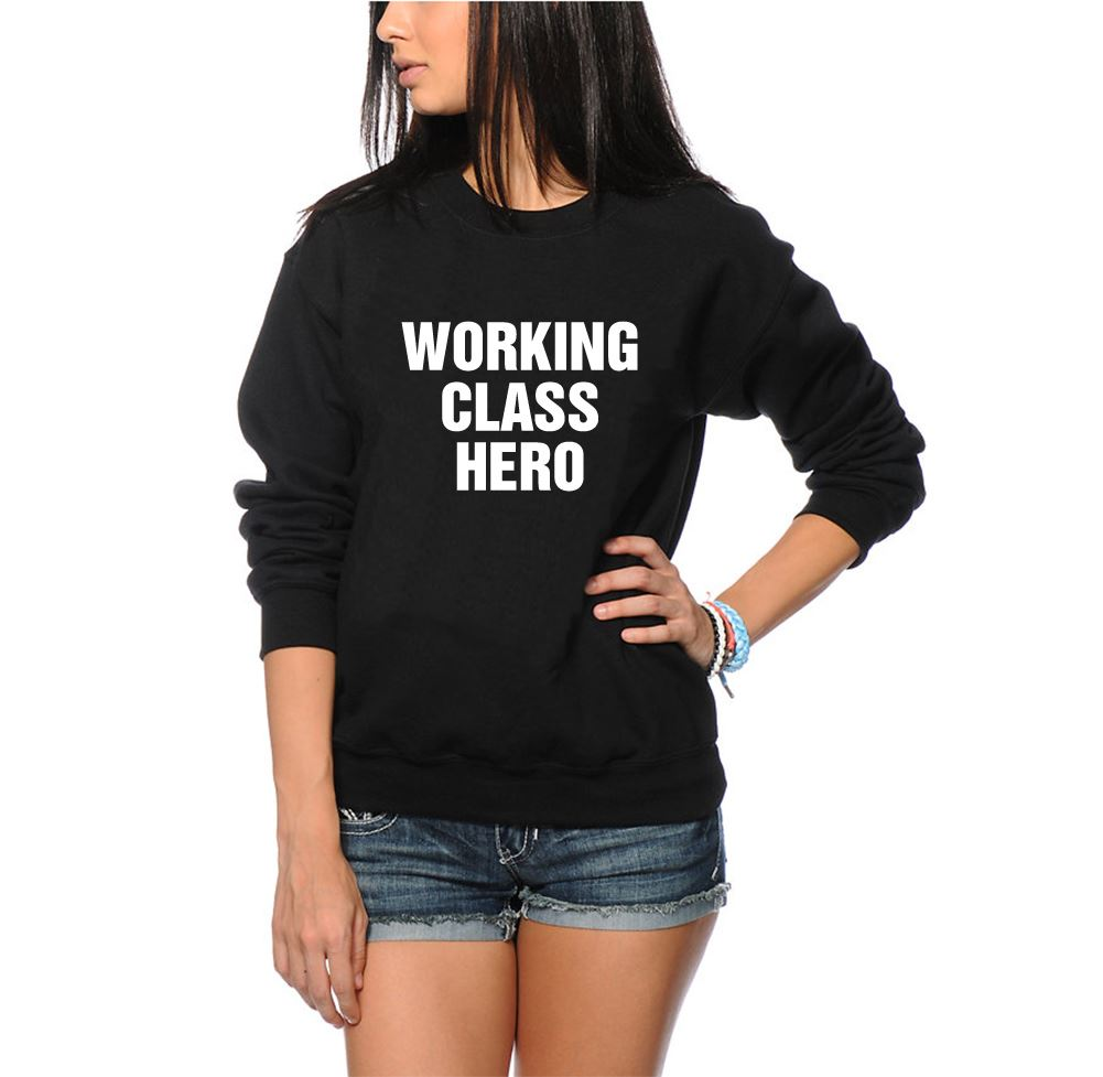 CLASSE OPERAIA HERO UNISEX COOL swagg maglione-Nero e Grigio Felpa