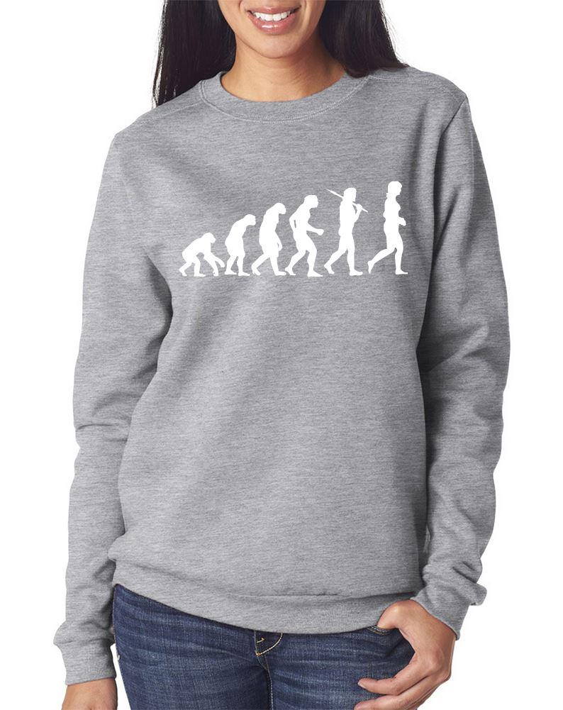Evolution of Woman Swag Ladies Girls Jumper Hipsta Sweatshirt Black /& Grey