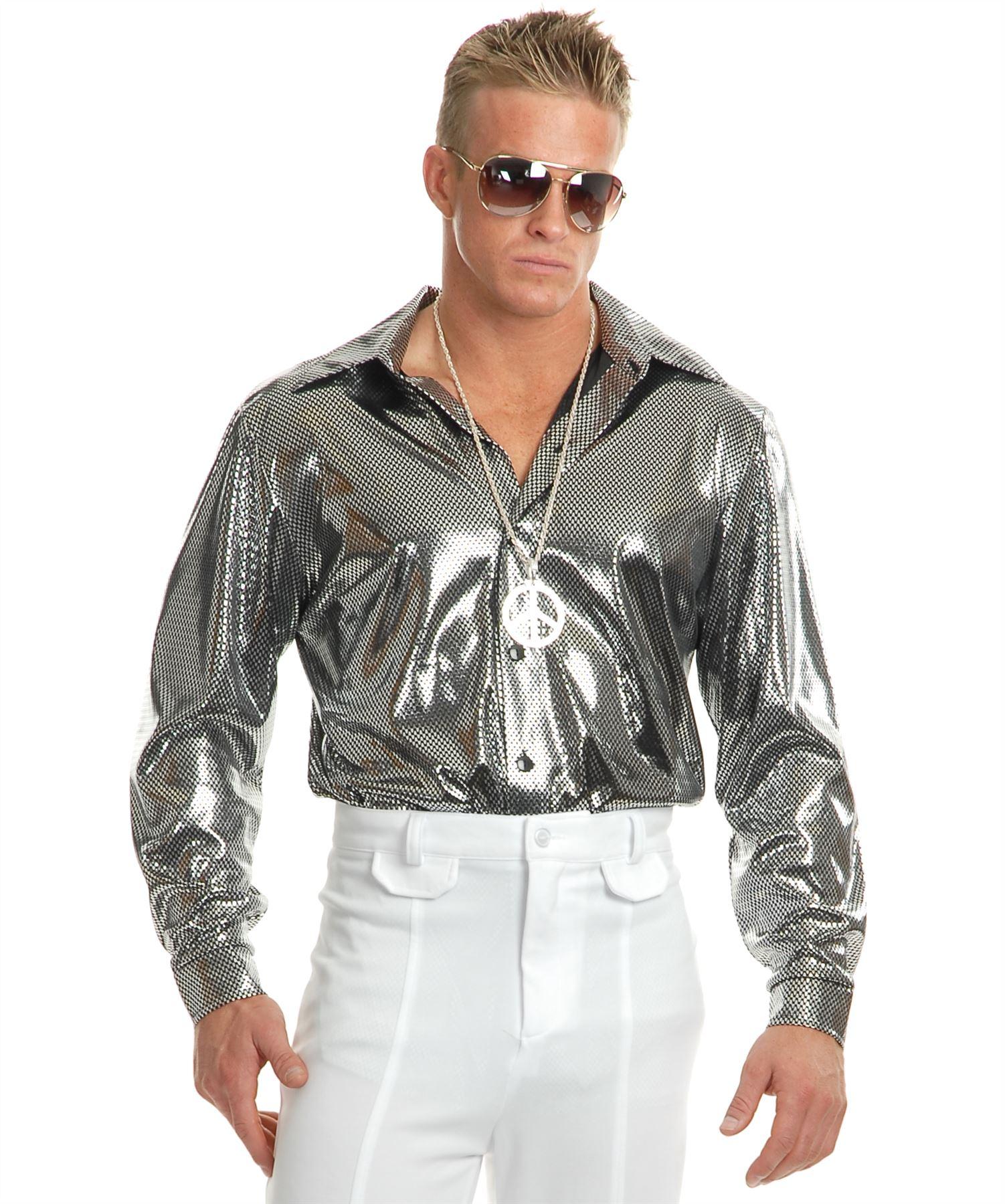Disco Shirt Retro 70S Metallic Studio 54 Mens Halloween ...