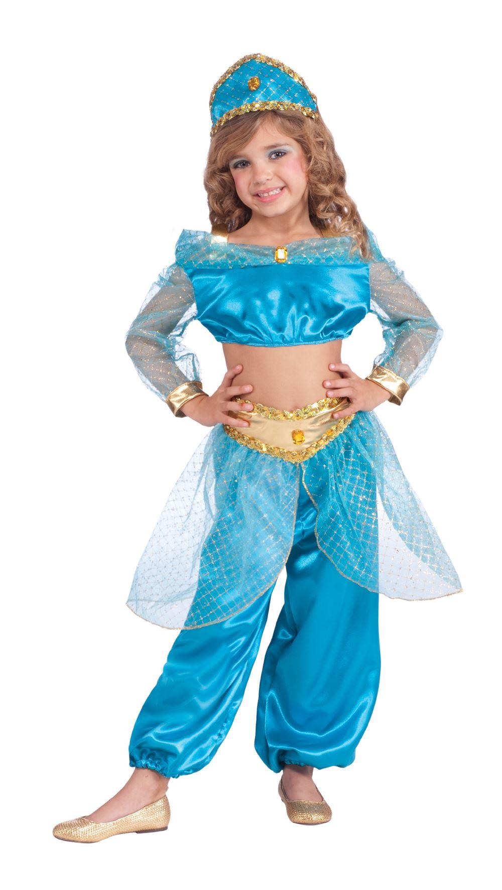 girls arabian princess jasmine costume. Black Bedroom Furniture Sets. Home Design Ideas