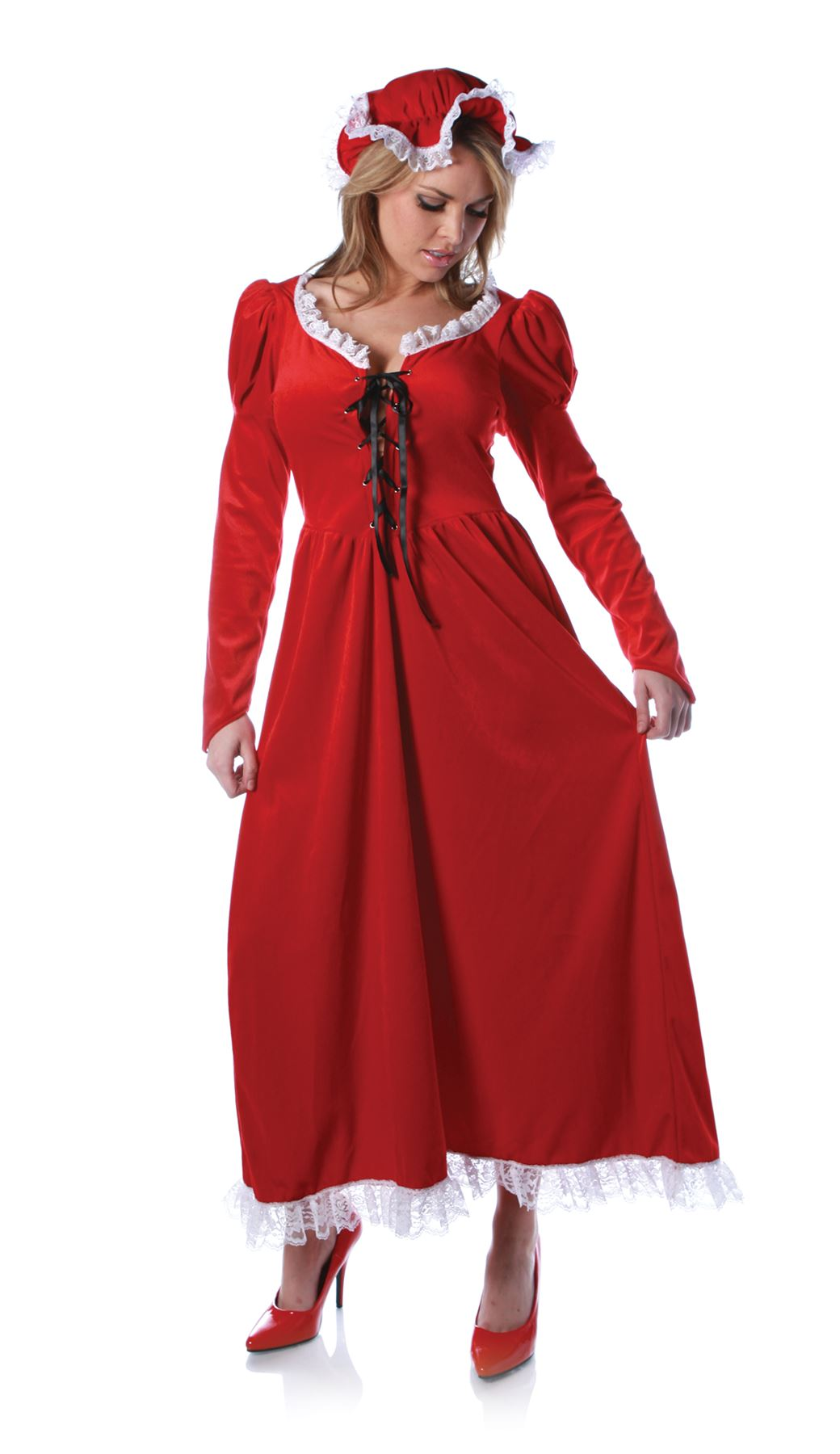 Mrs claus nightgown dress adult womens santa miss