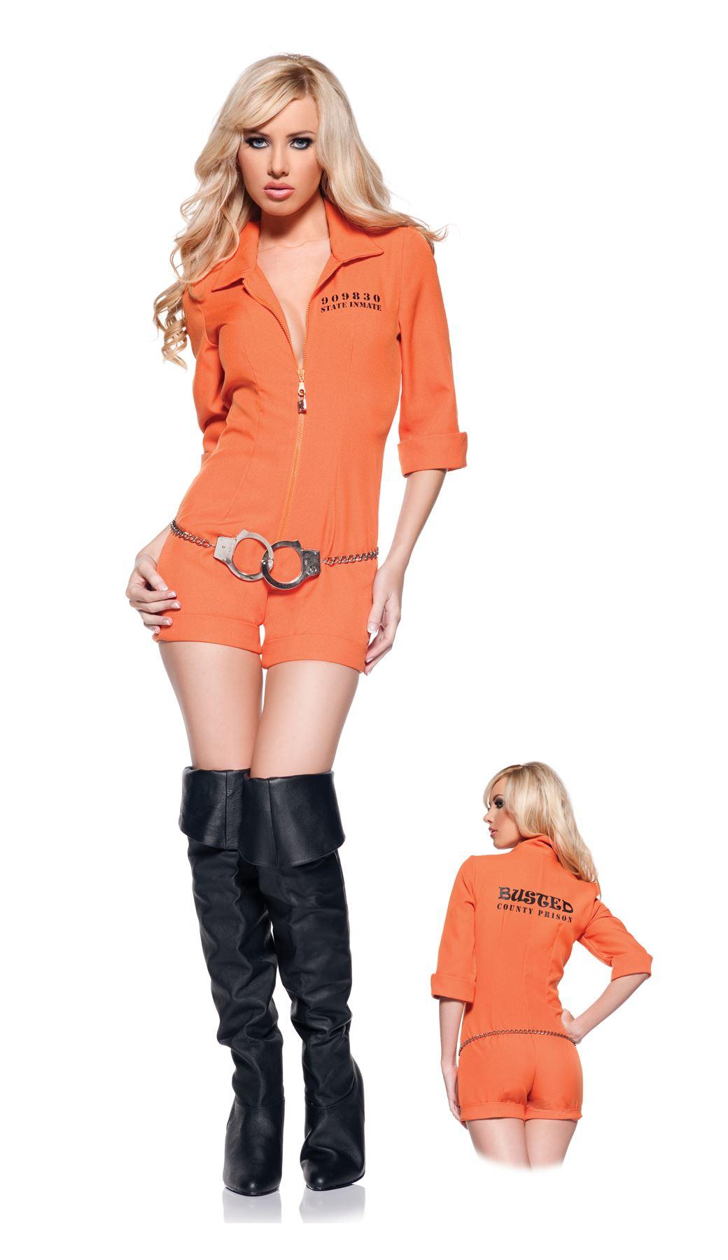 Sexy Orange Prison Jumpsuit Womens Costume | eBay