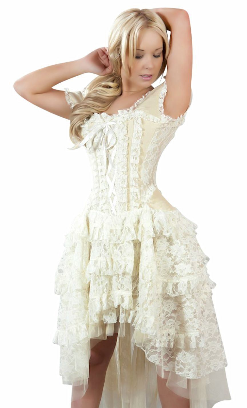 Ophelie corset dress cosplay steampunk victorian bridal by for Victorian corset wedding dresses