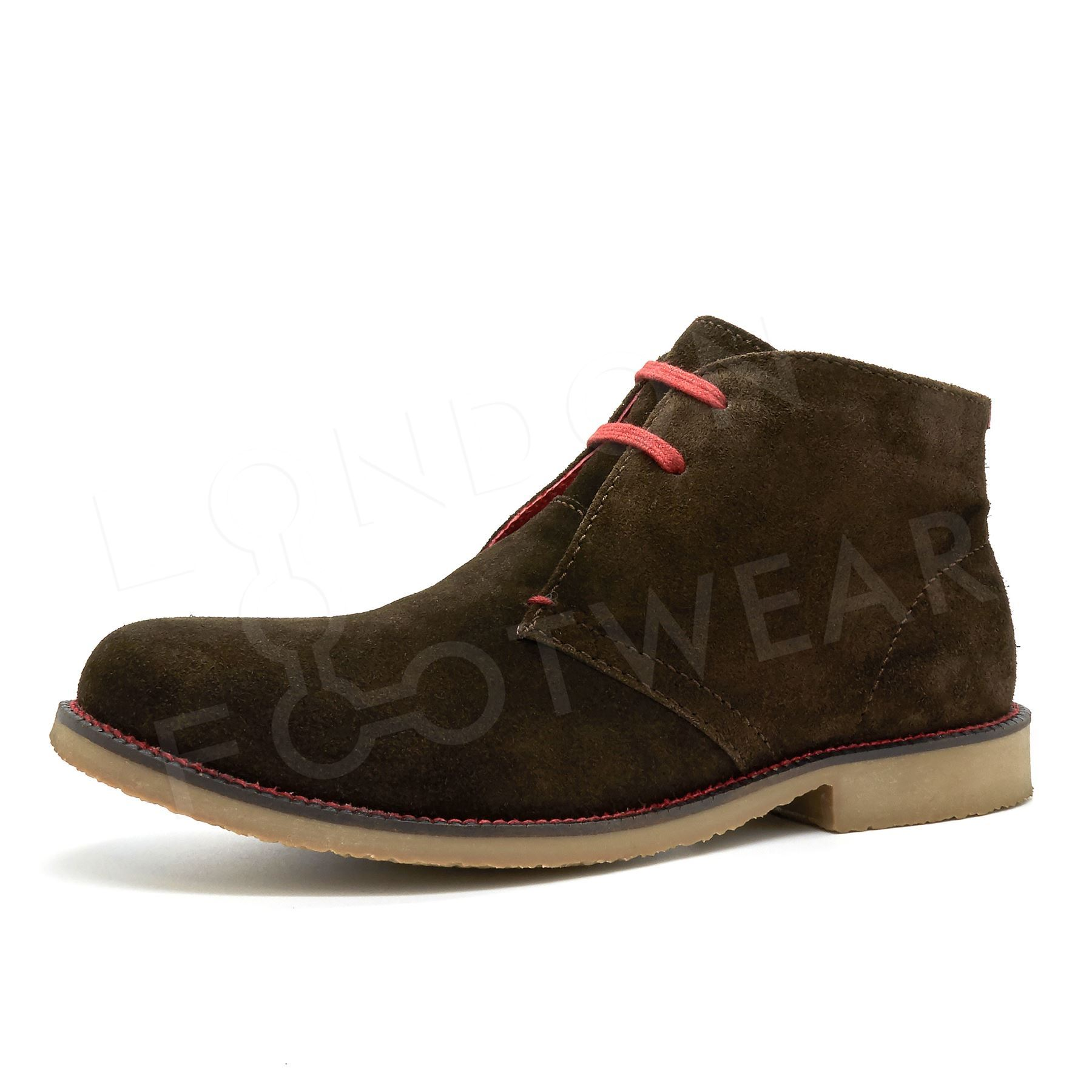 new mens suede leather desert chukka ankle boots casual lace up shoes size 6 11 ebay. Black Bedroom Furniture Sets. Home Design Ideas