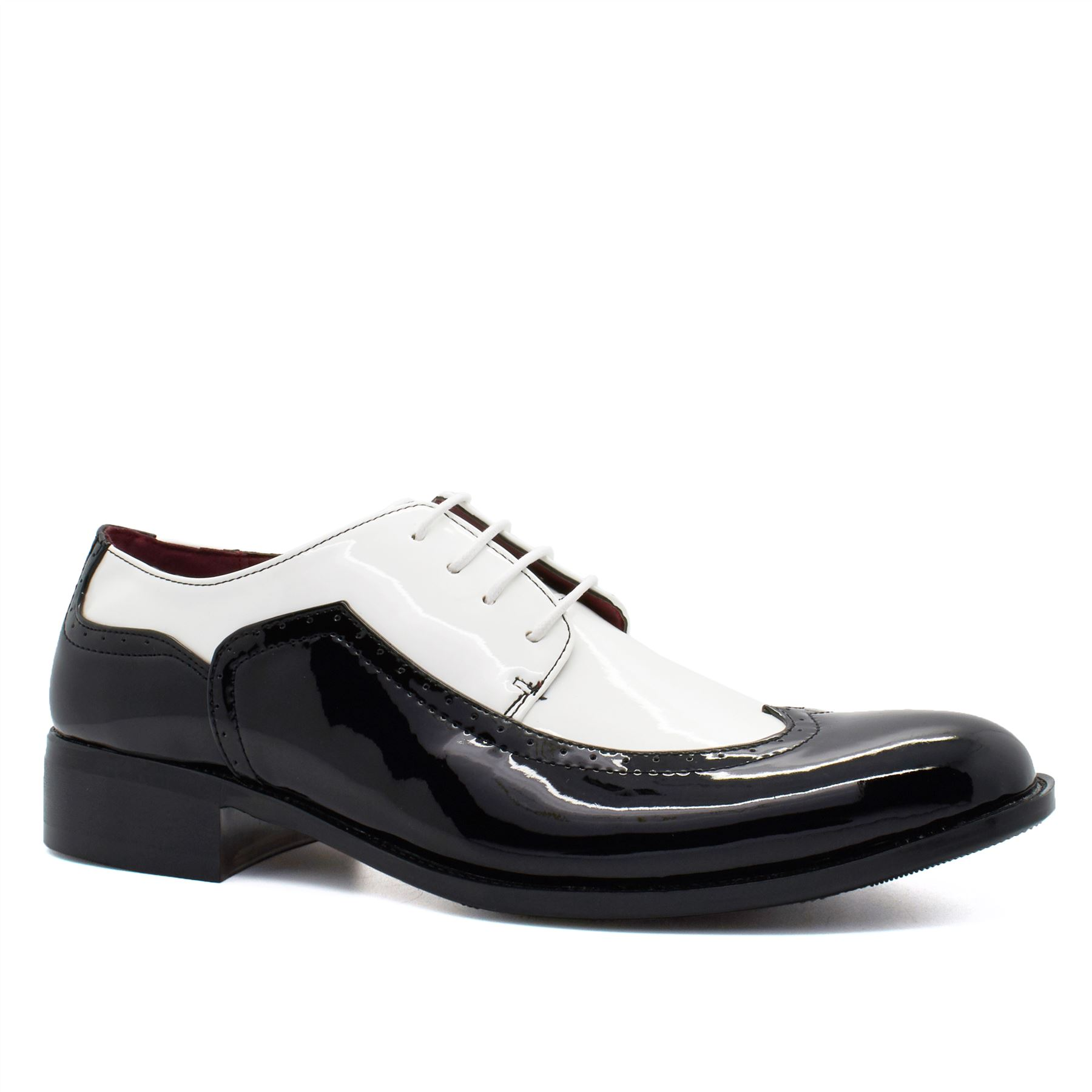new mens black shiny patent leather formal shoes wedding