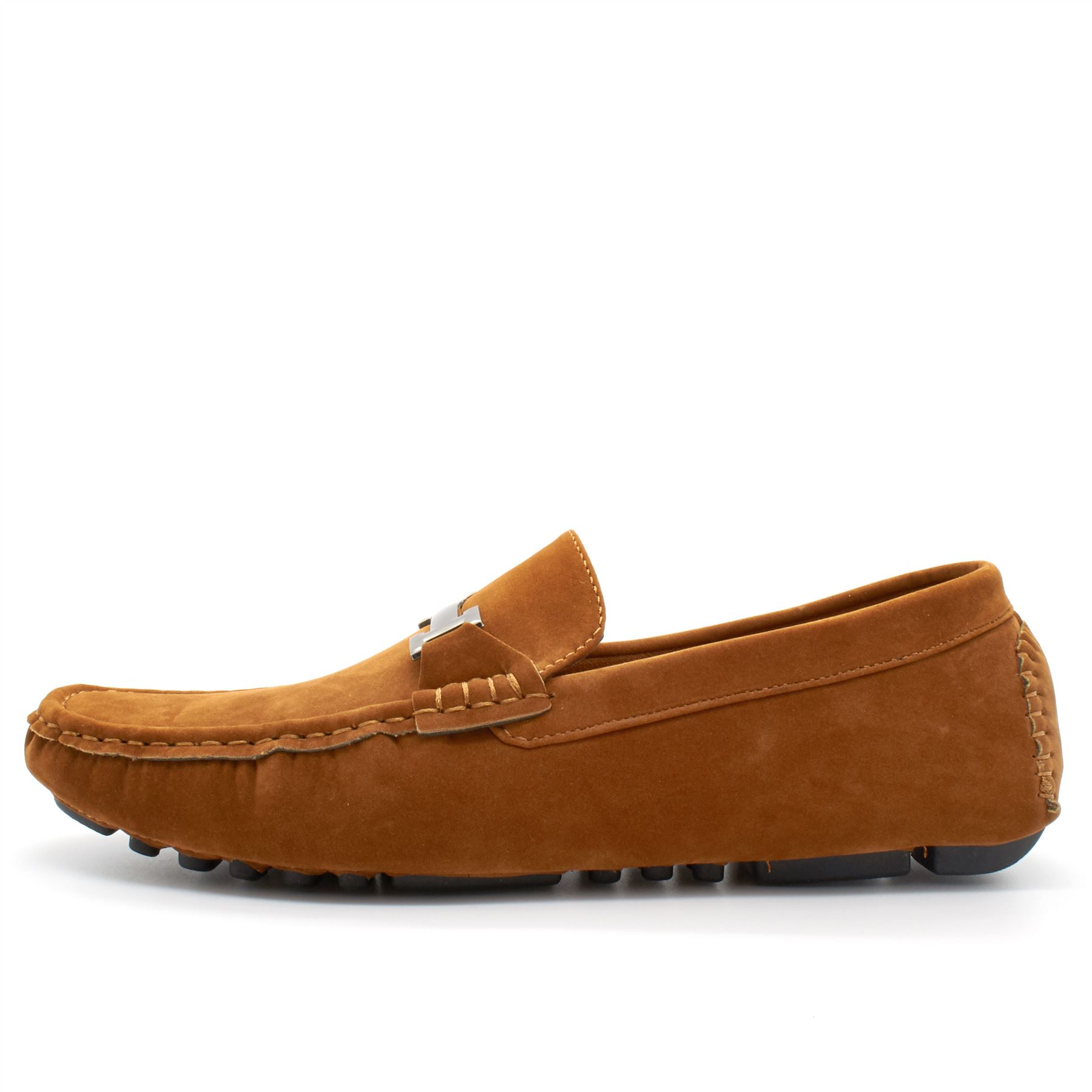 mens faux suede casual loafers moccasins slip on driving
