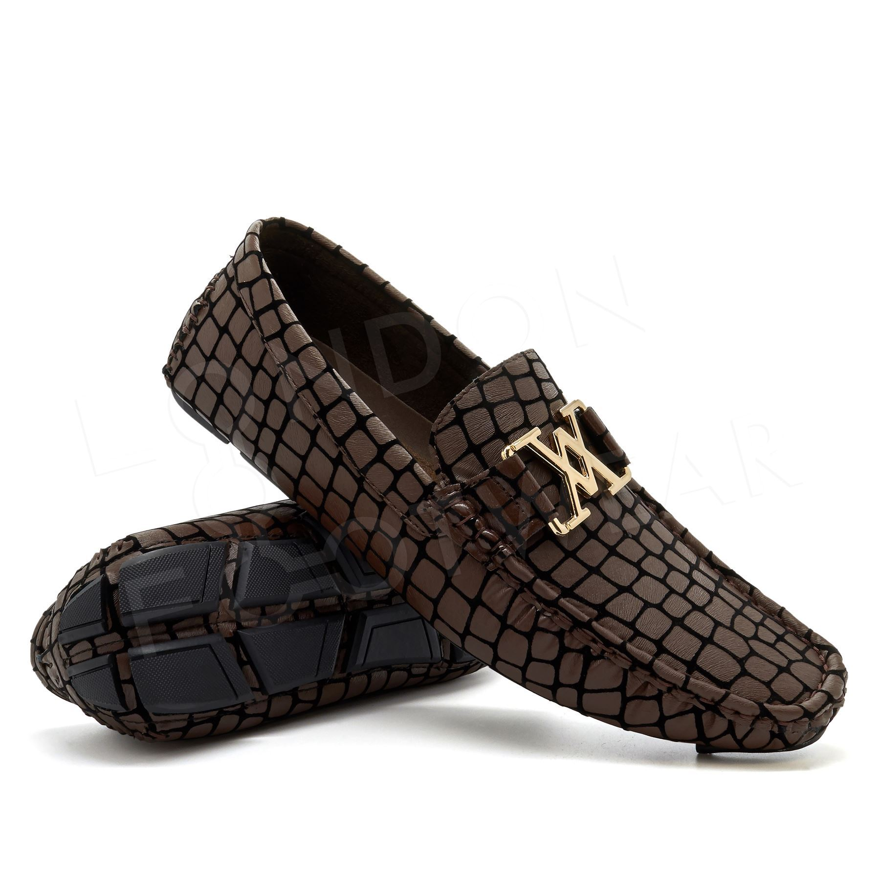 new mens casual slip on loafers moccasins shoes boat deck
