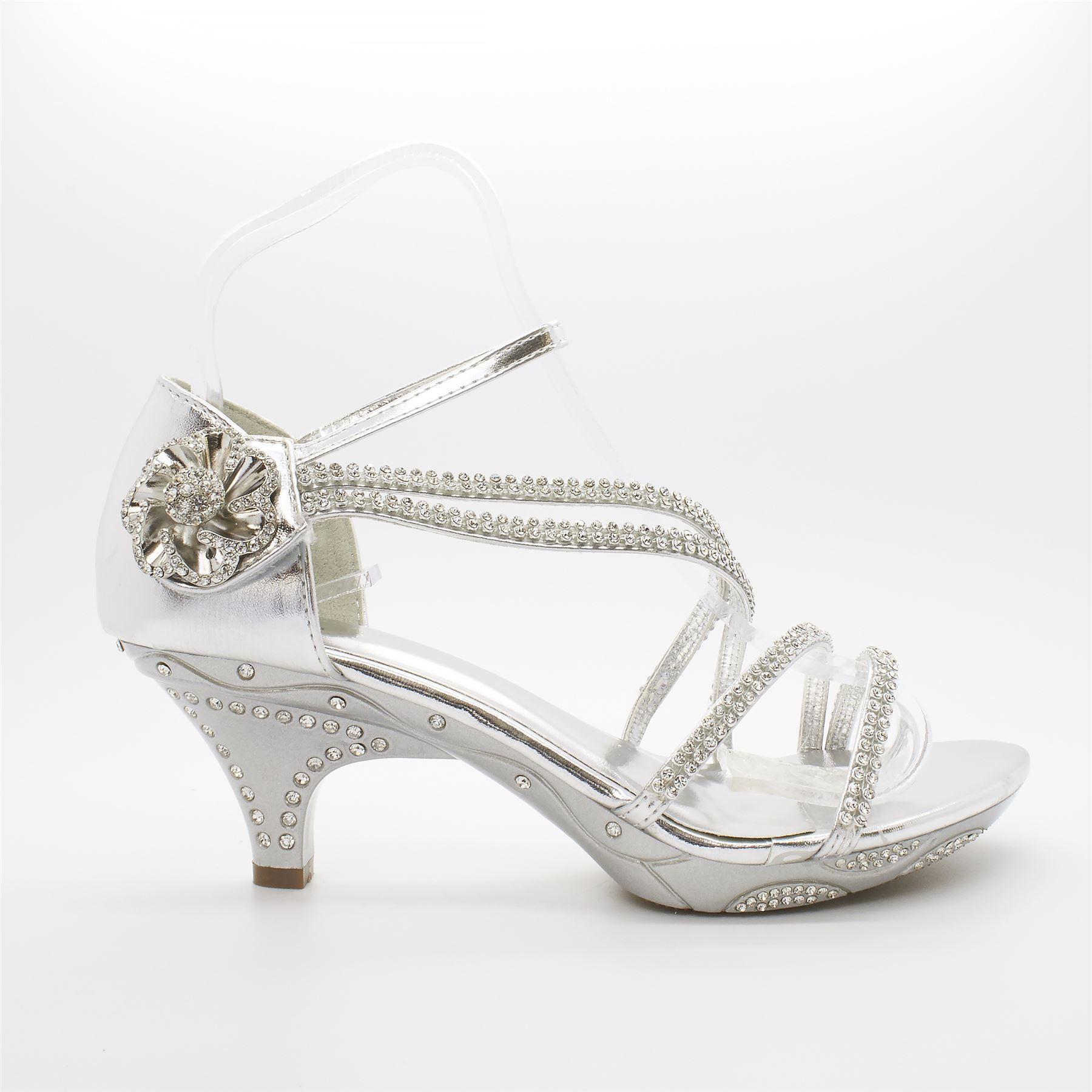 Sparkly Kitten Heel Wedding Shoes - Is Heel