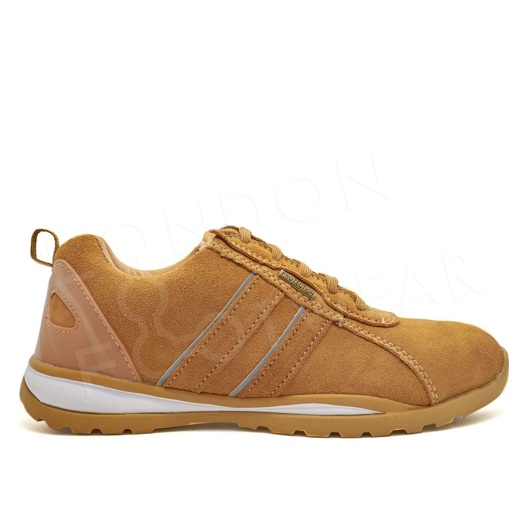 new mens suede safety shoes trainers boots steel toe cap