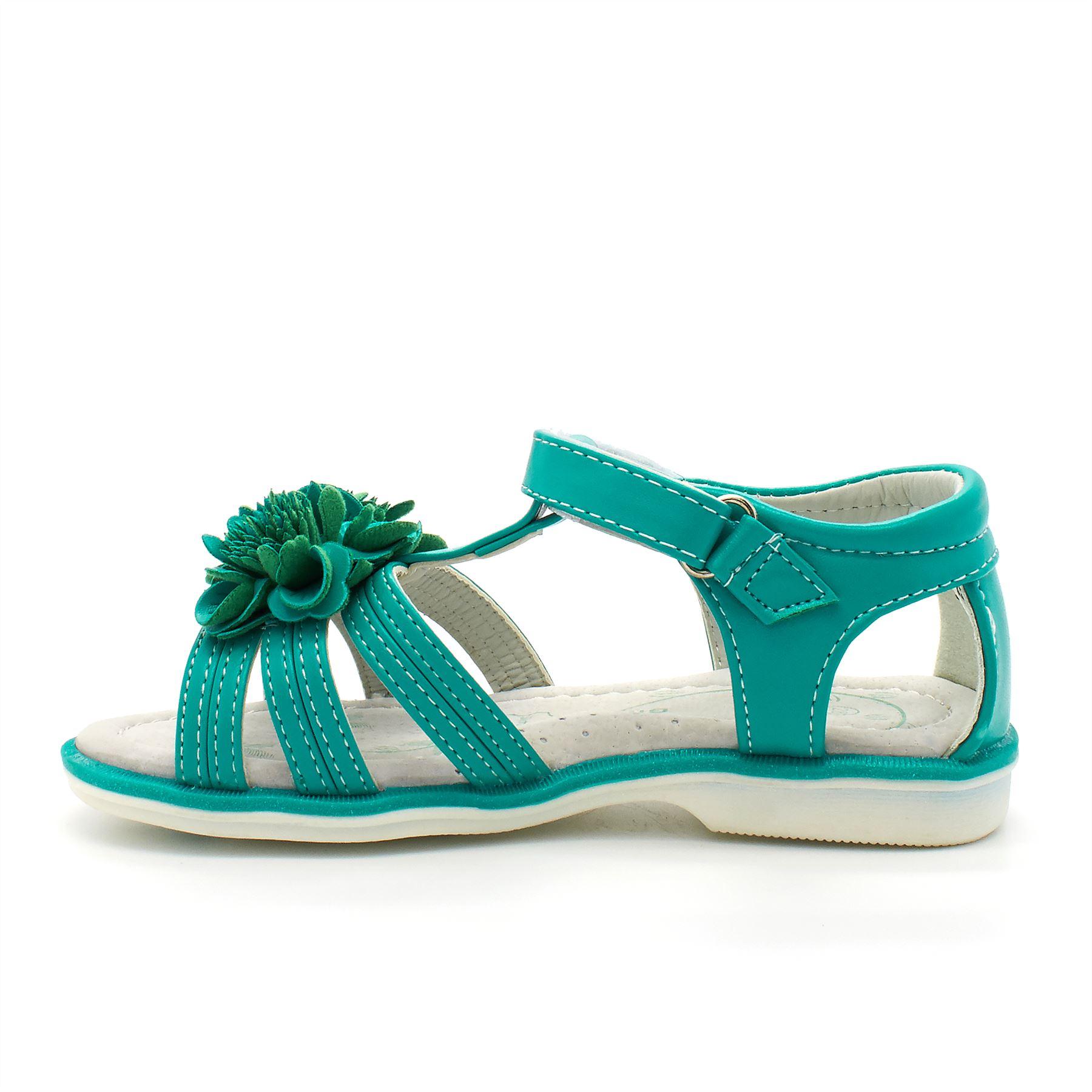 Girls Children Gladiator Flower Kids Shoes Size Summer Beach Flat Sandals New UK