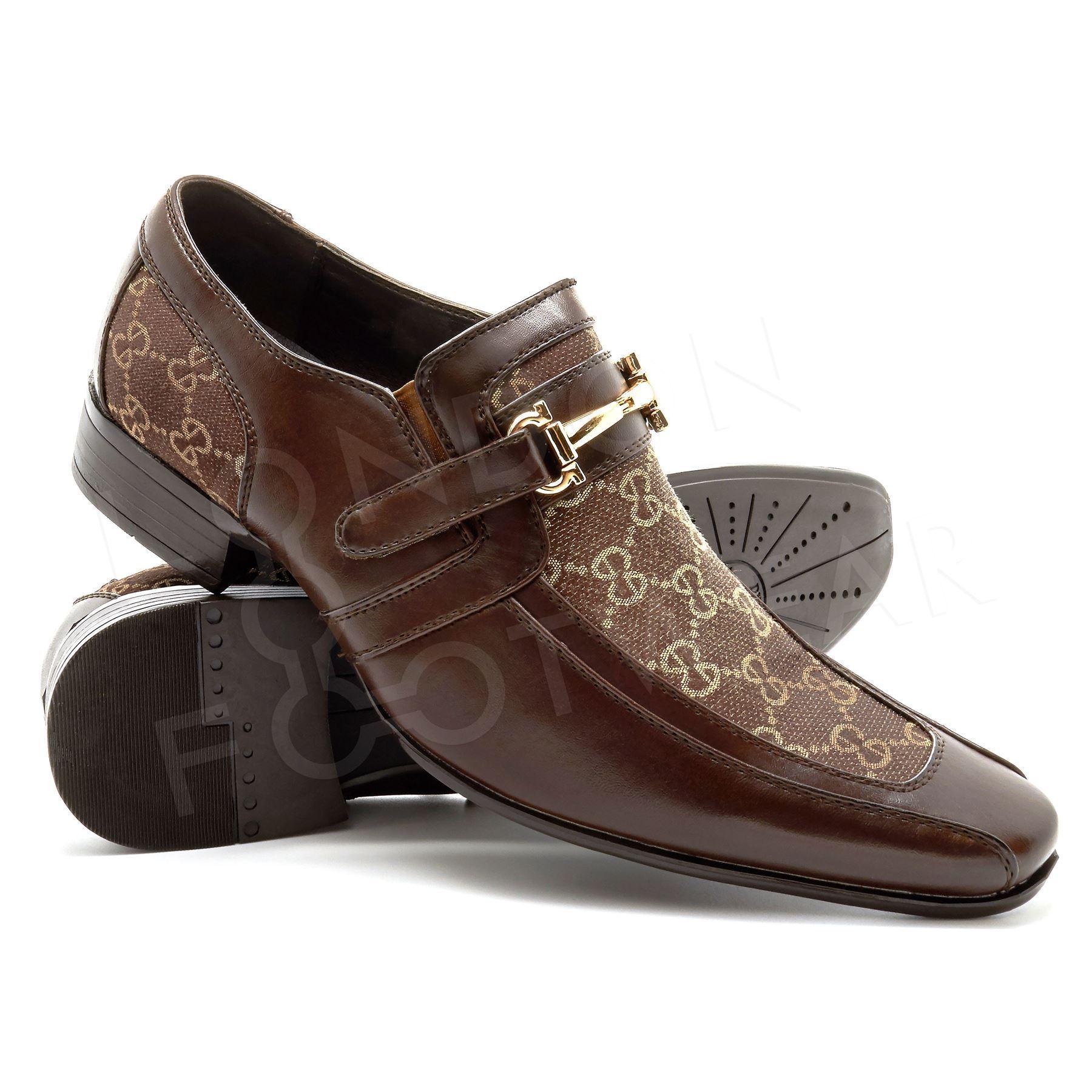 new mens italian designer formal shoes slip on wedding