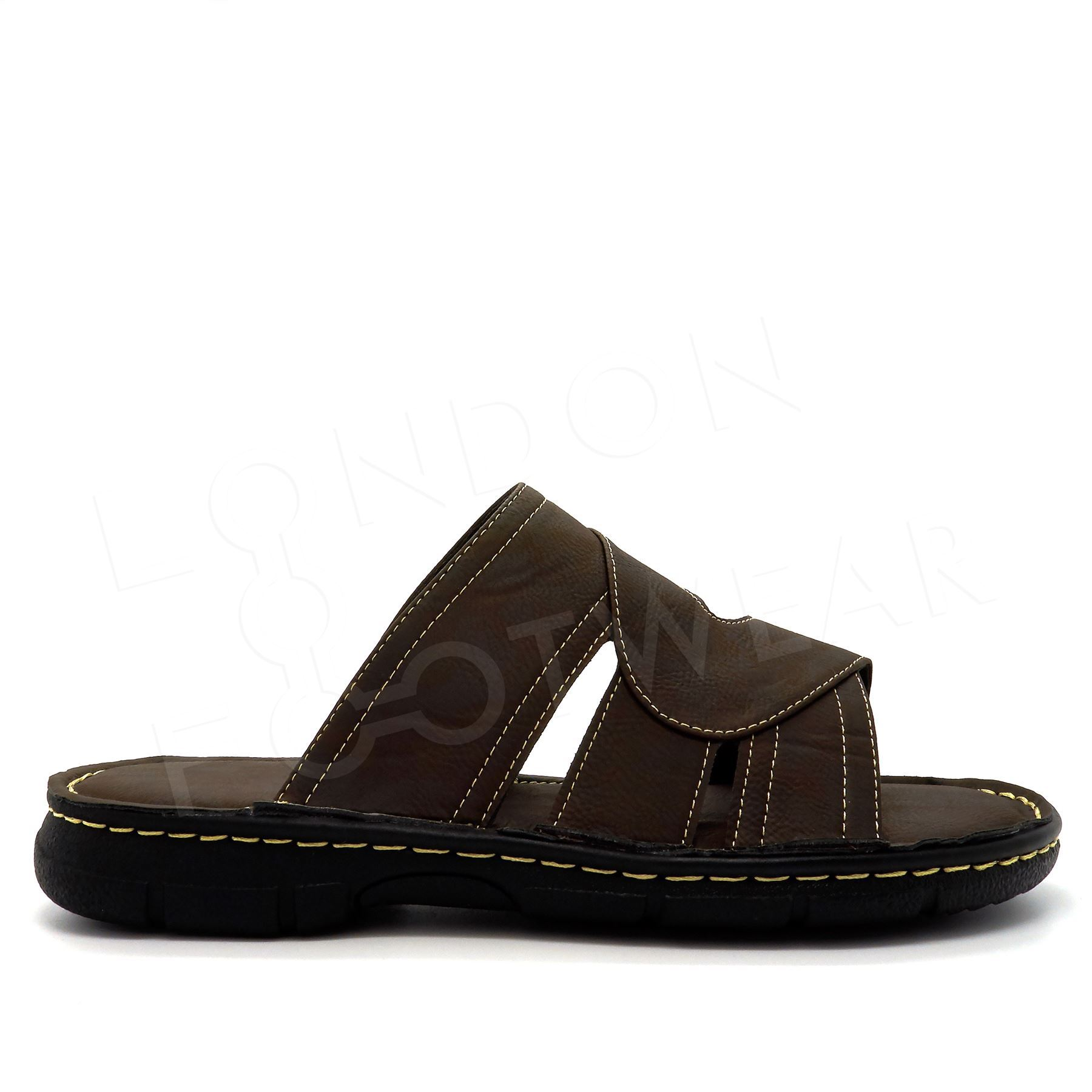mens summer comfort walking sandals slip on mules