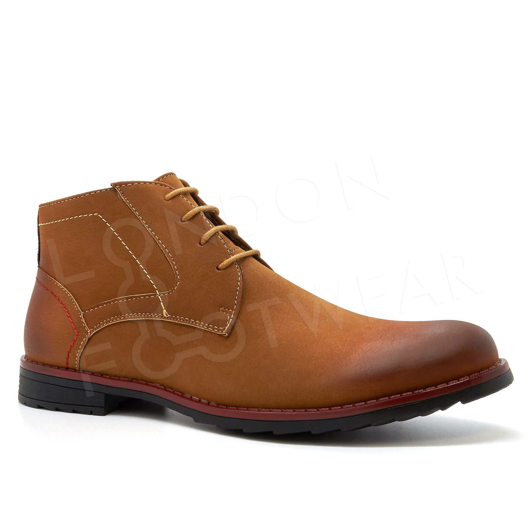 new mens casual formal chukka desert ankle lace up leather boots shoes size 6 11 ebay. Black Bedroom Furniture Sets. Home Design Ideas
