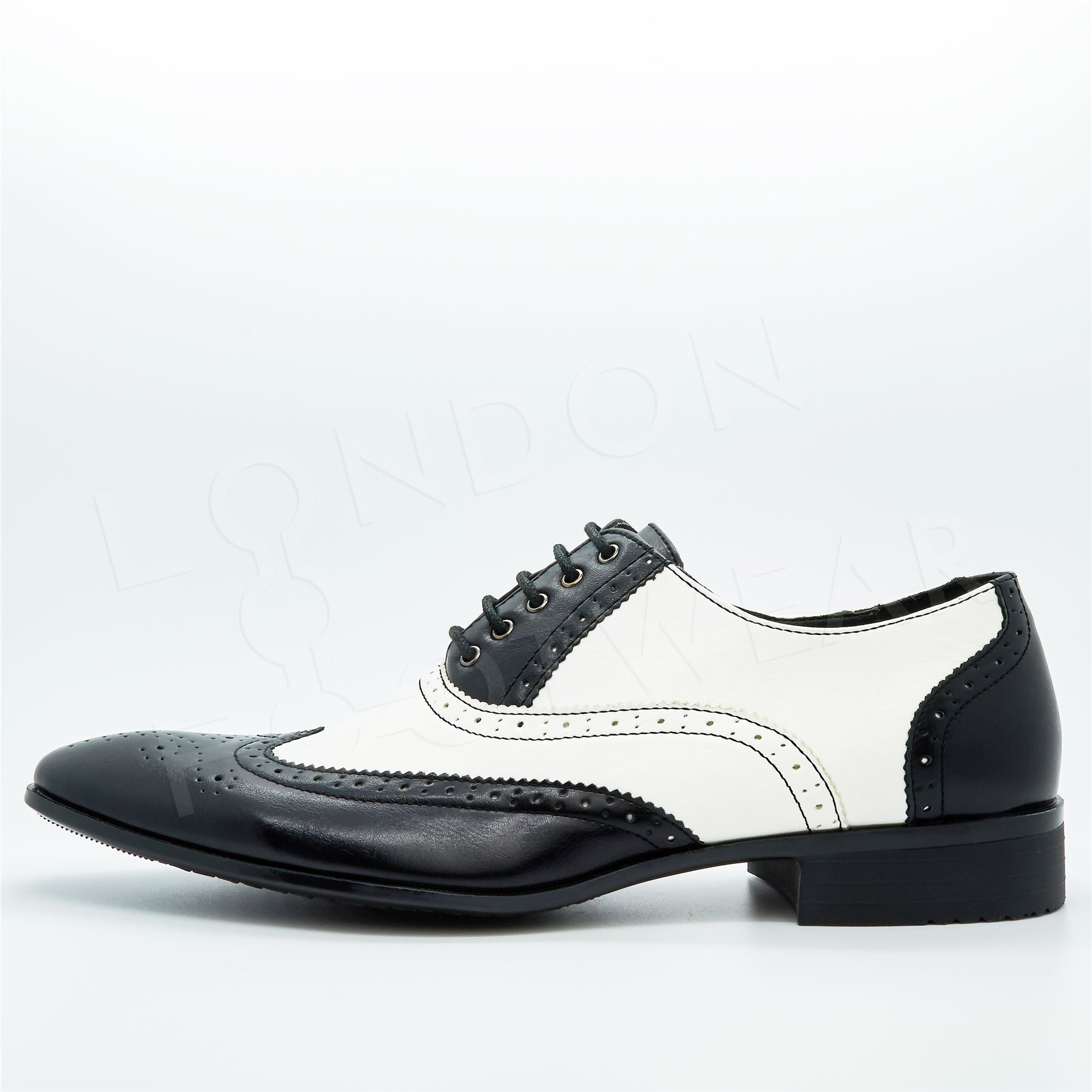 new mens two tone oxford brogues lace up formal gangster