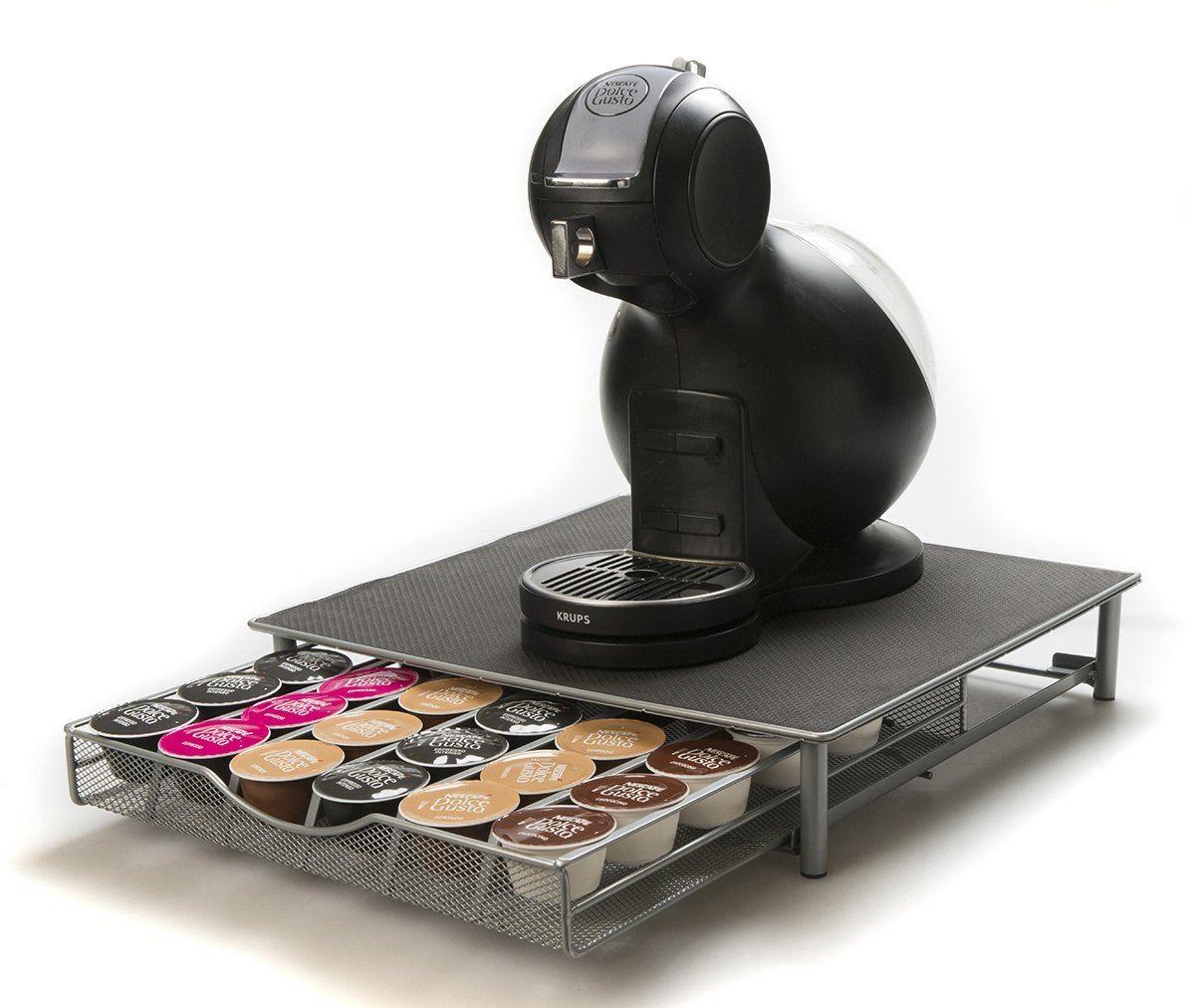 coffee machine stand 36 60 capsule pod holder storage drawer ebay. Black Bedroom Furniture Sets. Home Design Ideas