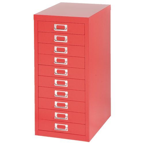28 filing cabinet red red silverline 3 drawer metal office