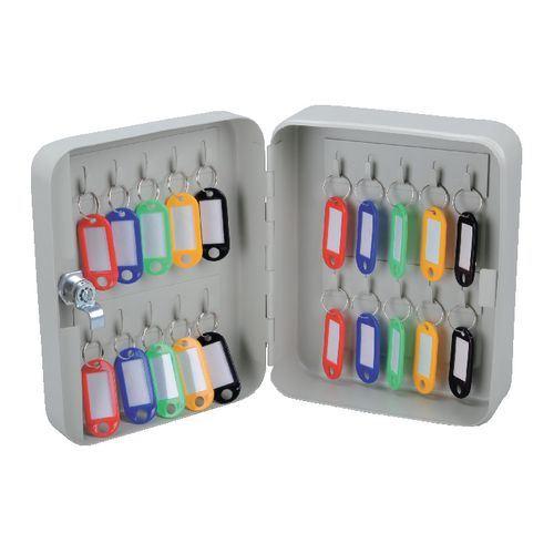 Key Cabinet Gray Metal Box Storage Multi Key