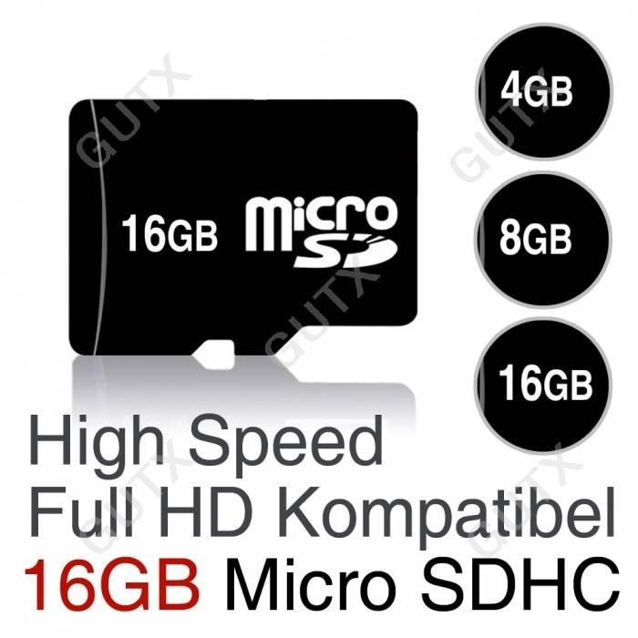 16gb 8gb 4gb 2gb microsdhc speicherkarte micro sd sdhc. Black Bedroom Furniture Sets. Home Design Ideas