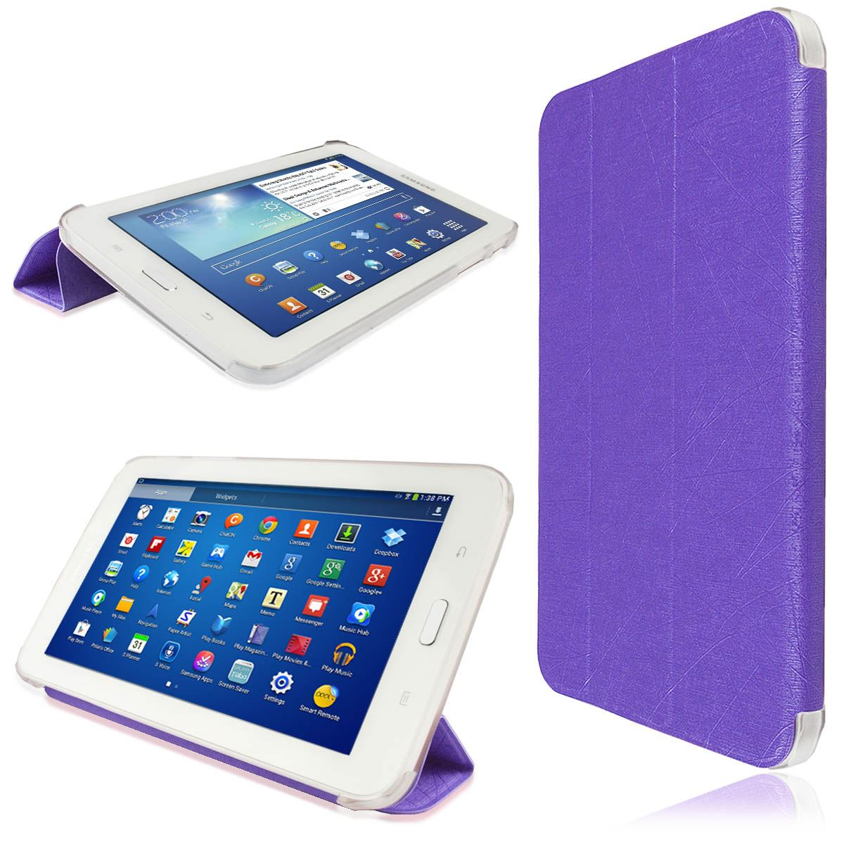 New Variety Side Flip Tri Fold Stand Case Cover For Samsung Galaxy Tab Tablets