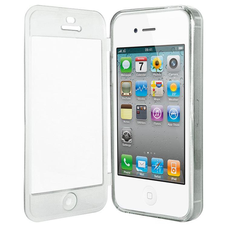 Gel-Schutzhuelle-Volle-Abdeckung-Fuer-Iphone-4s-4g-Mattiert-Transparent