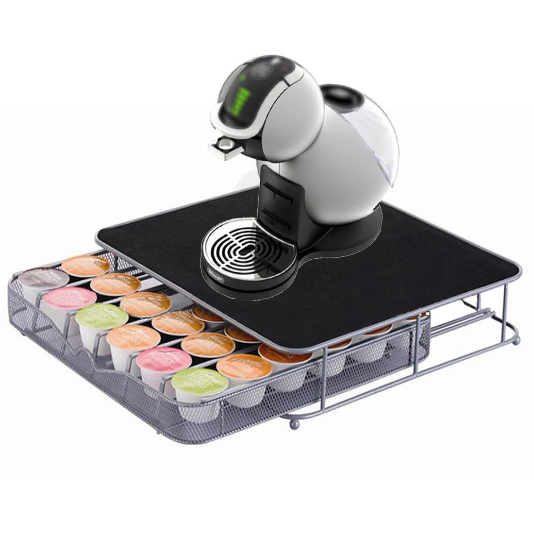 Dolce Gusto Coffee Pod Stand And Drawer Storage Holds 36