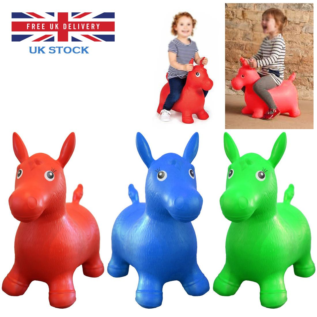 enfants animal ballon sauteur gonflable cheval ride on rebondissant jeu jouets ebay. Black Bedroom Furniture Sets. Home Design Ideas