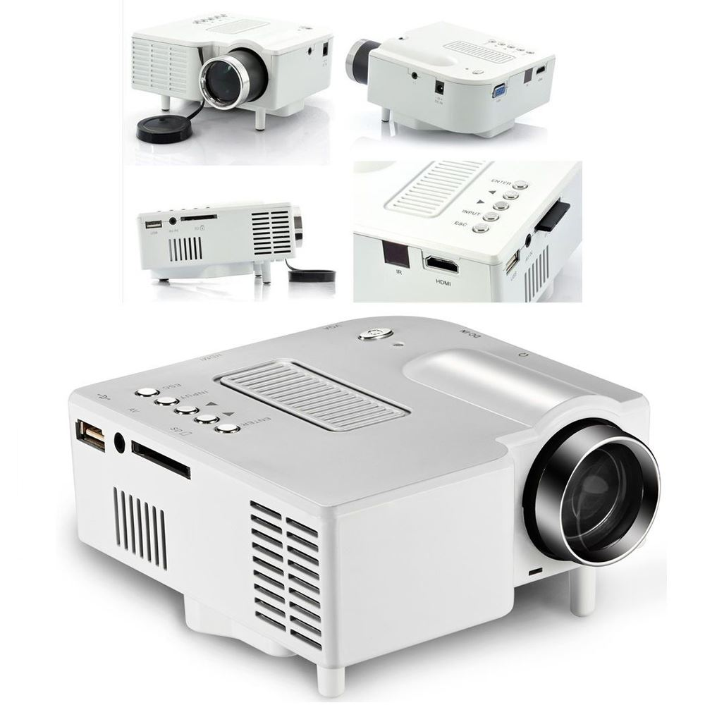 Portable mini led projector cinema theater pc laptop vga for Mini usb projector