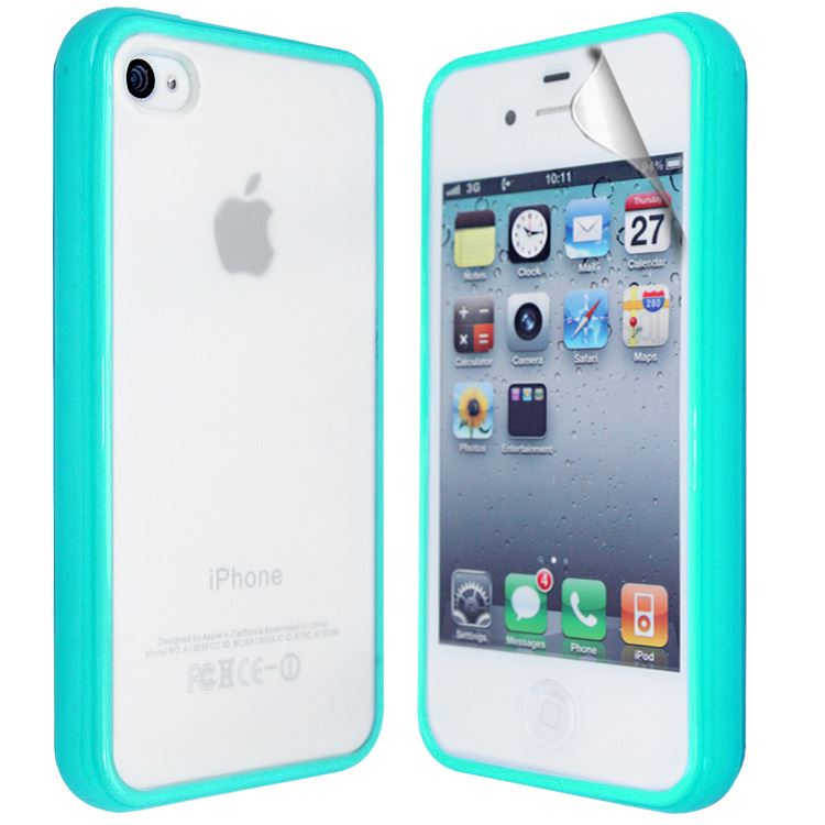 TPU-Silicone-Rubber-Frosted-Back-Phone-Case-Cover-For-APPLE-Iphone-4S-4G-SP
