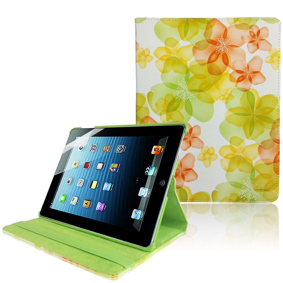 360 Degree PU Leather Flip Case Cover For iPad 2 3 4 Free Screen Protector