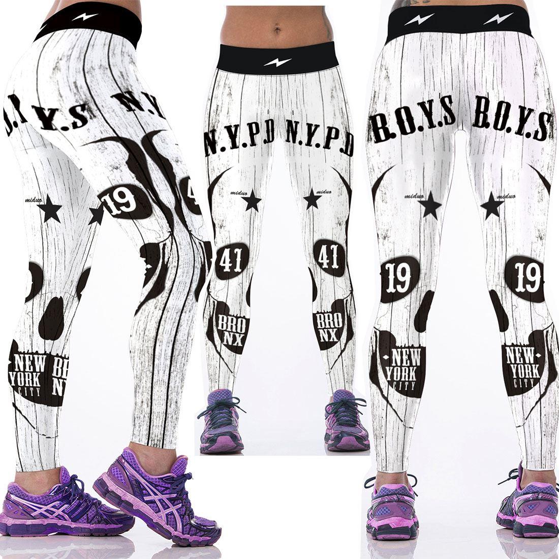 2016 Women American Football Pattern 3D Leggings Stretch Yoga Pants Sports Tight