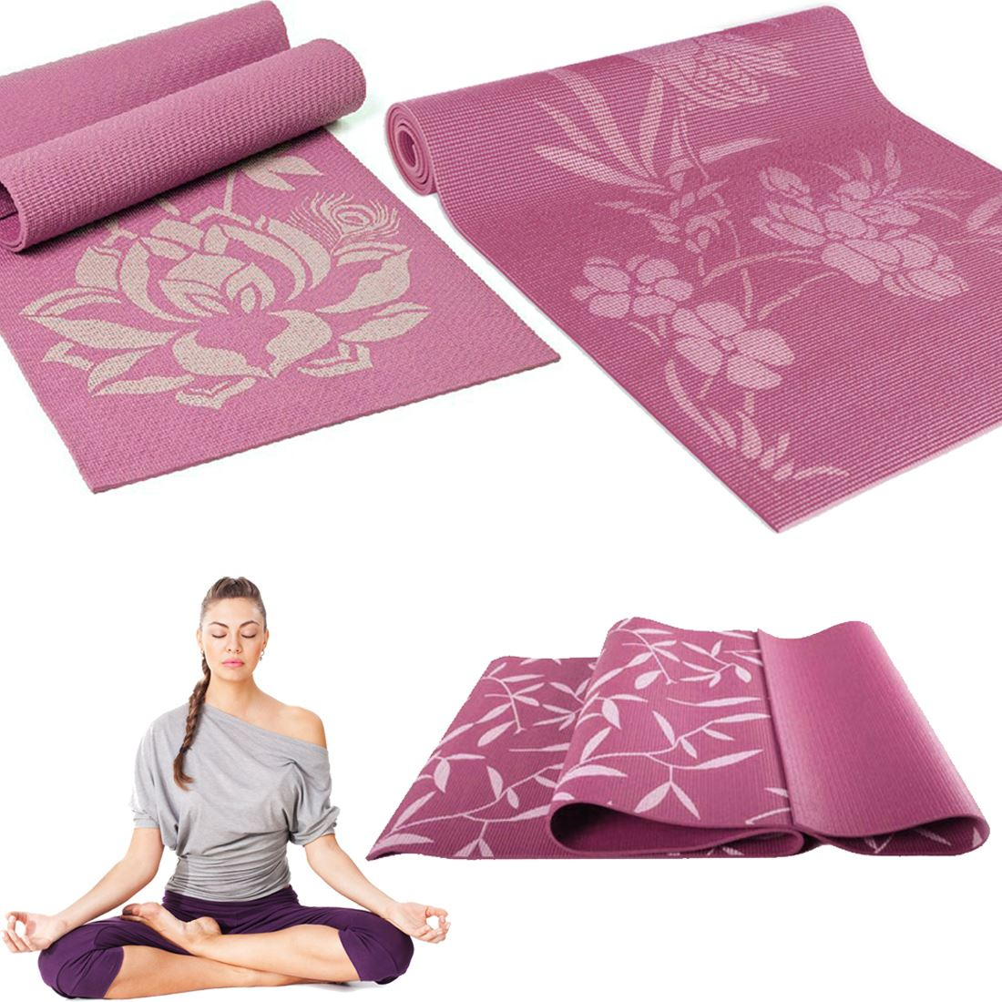 Random Printed Yoga Workout Exercise Fitness Physio