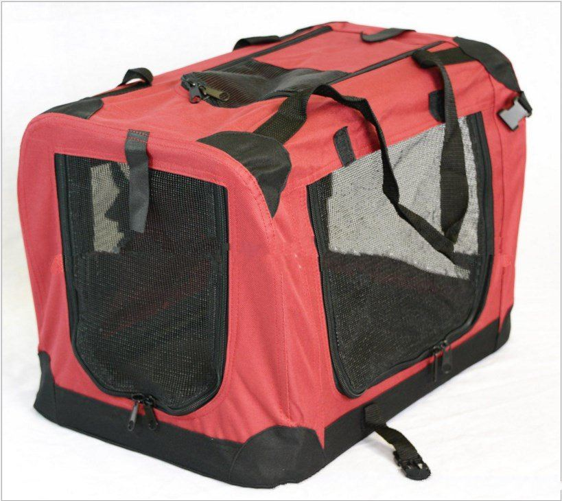 Dog Cat Fabric Portable Large Carrier Folding Crate Cage Pen Pet Travel Foldable