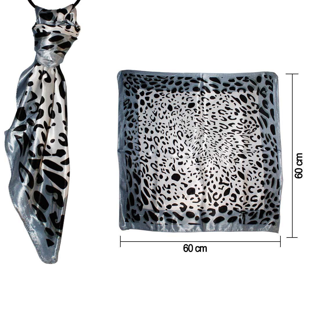 Noir L Opard Imprim Pour Femmes Doux Mode Court Charpes Ebay