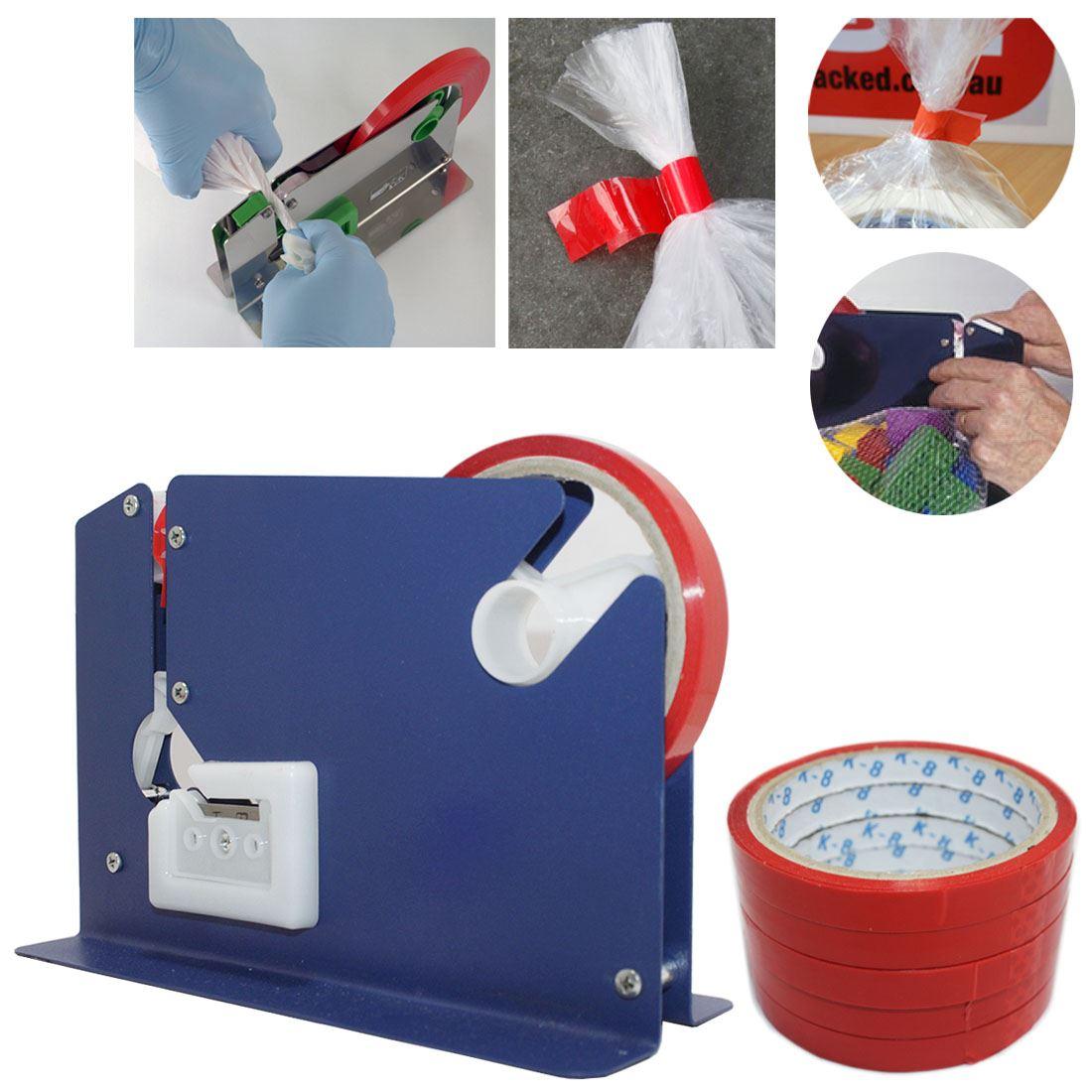 Plastic bag tape sealer - High Quality Metal Plastic Bag Neck Sealer With Tapes