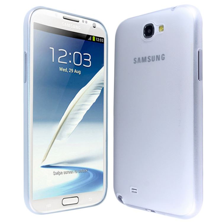 New Plain Transparent Ultra Thin Slim Case Cover FOR Samsung Galaxy Note 2 N7100