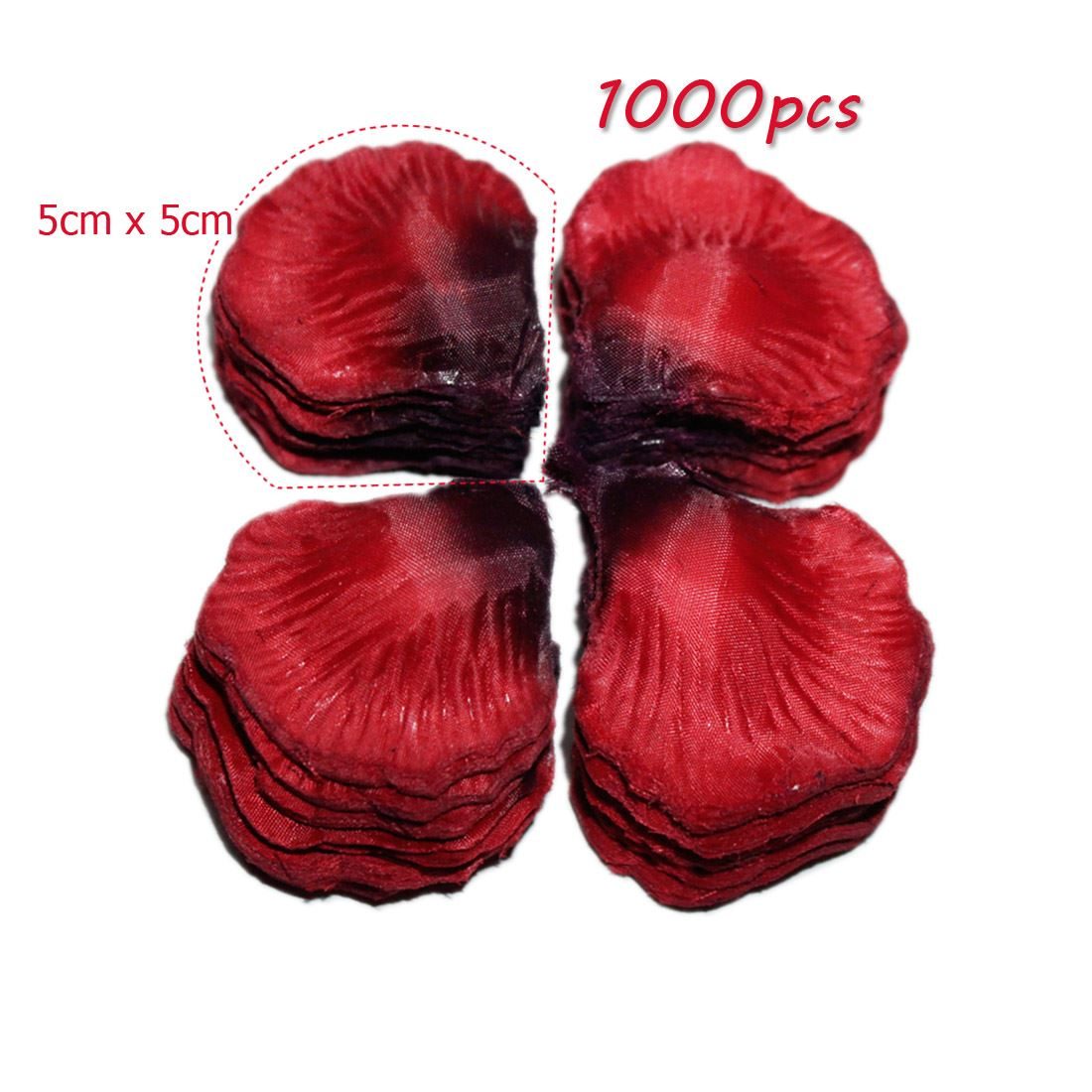 Top quality silk rose petals wedding flower confetti party for Bed decoration with rose petals