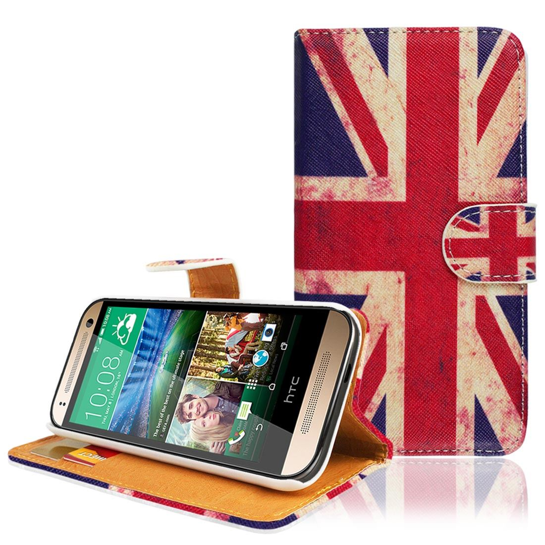 UNION JACK PRINTED PU LEATHER WALLET FLIP CASE COVER FOR VARIOUS PHONE MODELS