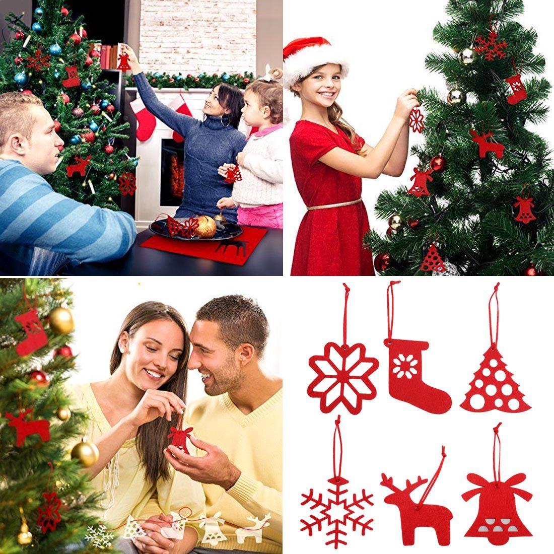 #B7141D Feutre Décorations De Noël Pendant Ornements Arbre De Noël  5409 decorations de noel en gros 1100x1100 px @ aertt.com