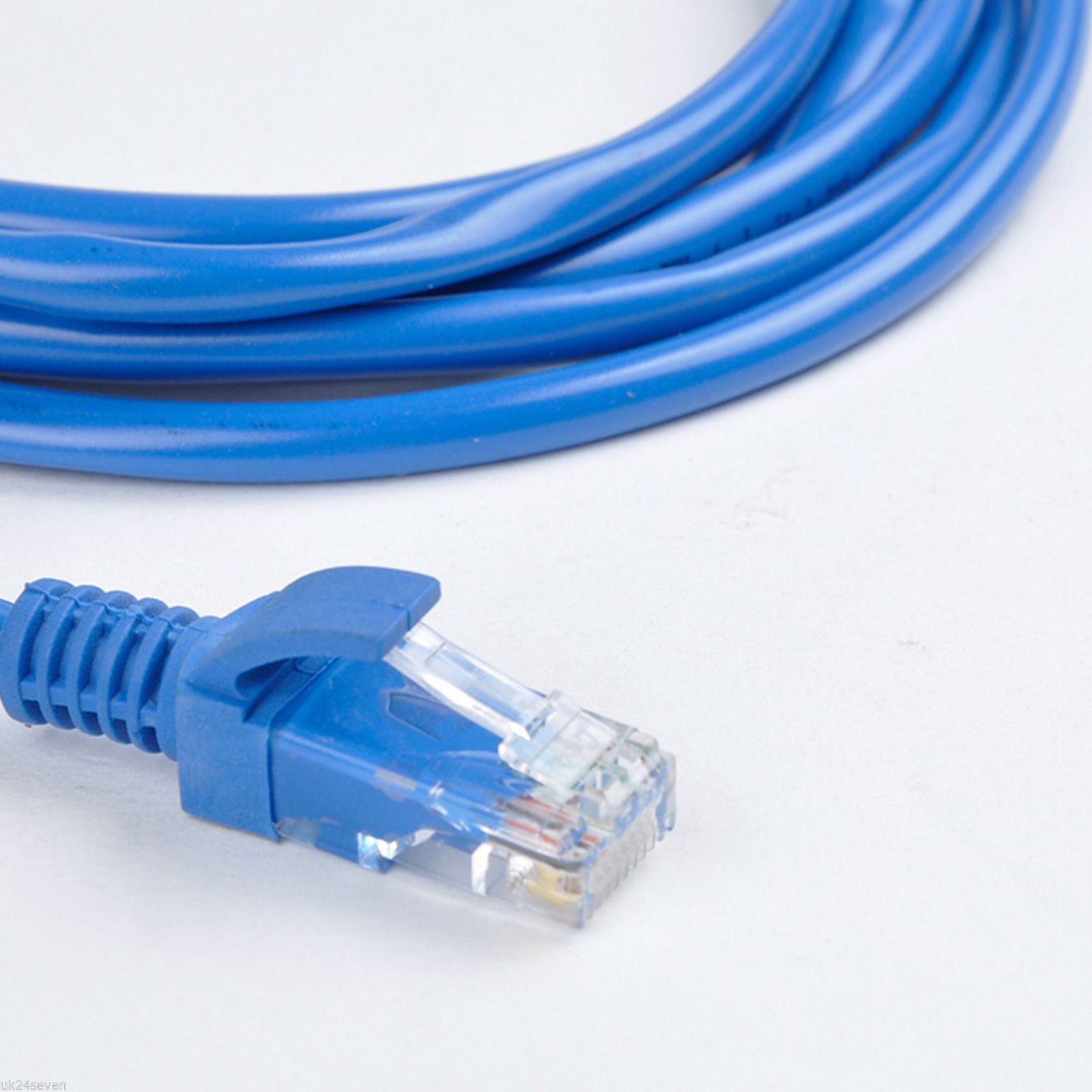 50m cat5e ethernet network internet rj45 network lan cable. Black Bedroom Furniture Sets. Home Design Ideas