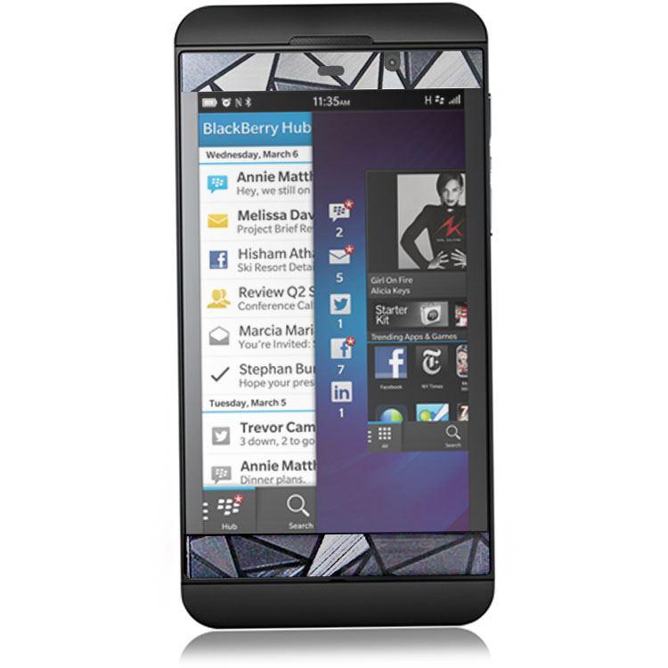 Hexagonal 3d cran protecteur pour blackberry z10 vrai 3d for Photo ecran blackberry z10