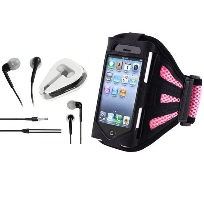 PINK-UNIVERSAL-GYM-JOG-ADJUST-SPORTS-ARM-VELCRO-STRAP-FOR-iPhone-4S-4G-EARPHONE