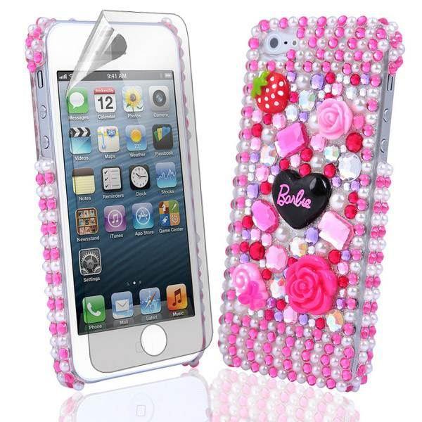 Barbie Crystal Diamond Case Cover+Film For Samsung HTC LG ...