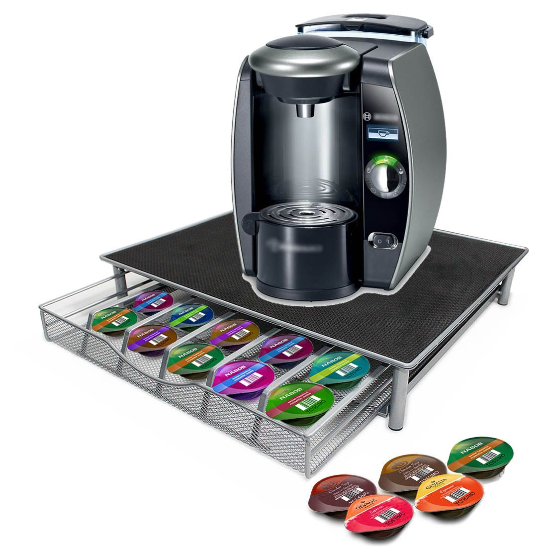 uk coffee machine stand capsule pod nespresso dolce gusto storage drawer ebay. Black Bedroom Furniture Sets. Home Design Ideas