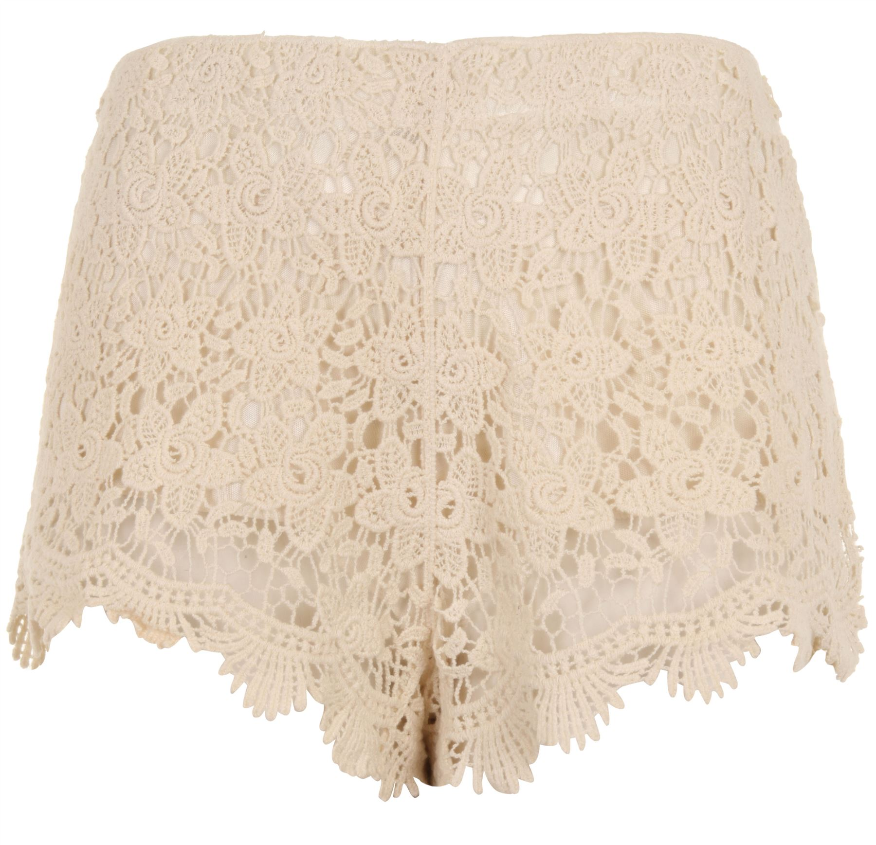 Pretty-Ladies-Floral-Cotton-Crochet-Shorts-with-Elastic-Waistband-Cream