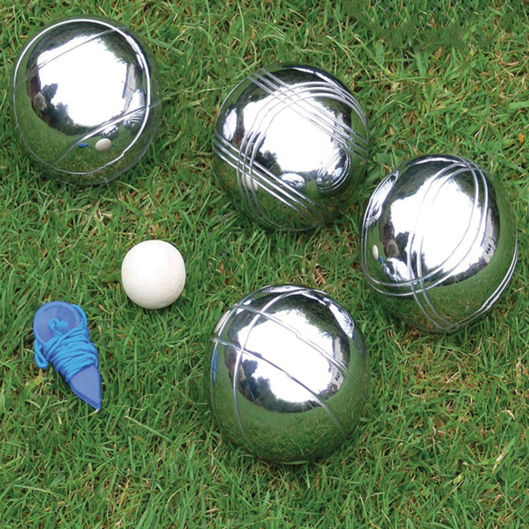 steel french boules 8 petanque metal balls complete garden game set outdoor new ebay. Black Bedroom Furniture Sets. Home Design Ideas