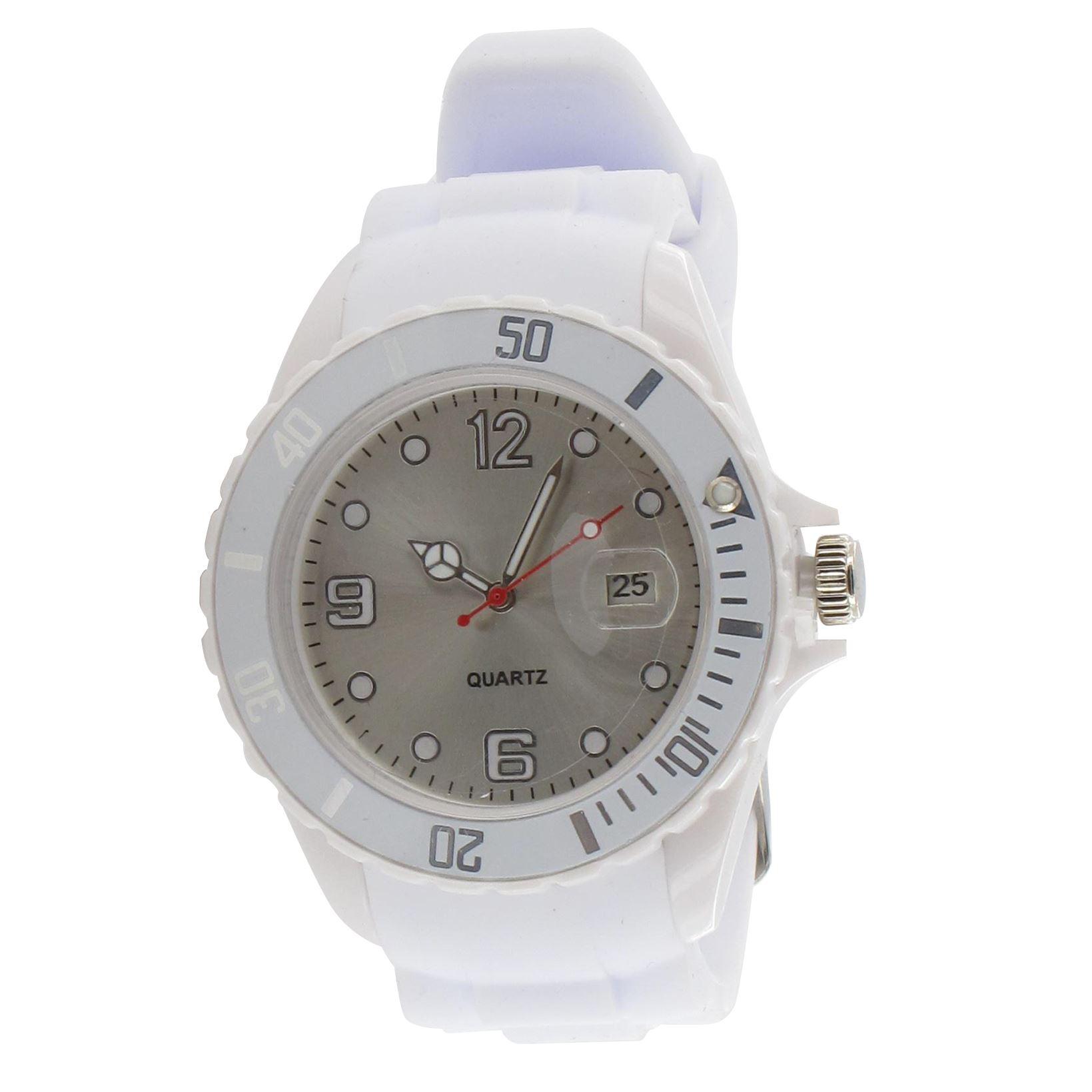mens quartz silicone sports wrist fashion